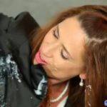Classy euro babe enjoys bukkake at gloryhole